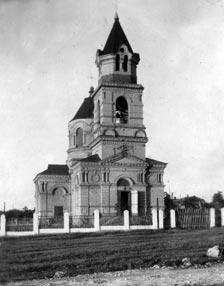 Такой была Свято-¬Никольская церковь после первой реставрации в 40¬х годах прошлого века